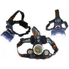 Cree T6 3x LED Scheinwerfer Taschenlampe Kopflampe Stirnlampe wiederaufladbar