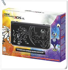 NEW Nintendo 3DS XL Solgaleo & Lunala Edition ASIA SYSTEM CONSOLE