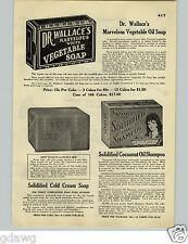 1928 PAPER AD Dr. Wallace Vegatable Soap Sterne's Coconut Oil Shampoo