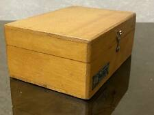 1962  Vintage Antique Soviet Old USSR Brass Scale Weights Wood Box Full Set