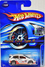 HOT WHEELS 2006 HONDA CIVIC TYPE R #133 WHITE FACTORY SEALED