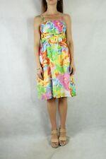 HARRY WHO Silk Cotton Multi Colour Printed Dress Size 8