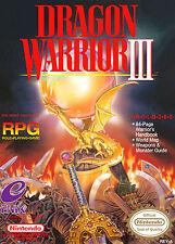 Encadrée nes nintendo jeu imprimé – guerrier dragon 3 (photo poster snes game)