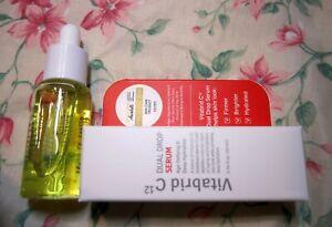 Vitabrid C12 Dual Drop Serum Age-Defying & Deep Hydration~0.34 oz / 10 ml Mini
