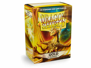 Classic Gold Case Display Dragon Shield Standard Size Sleeves - 10 Packs