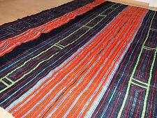 Vintage Mong Hmong Bett-Überwurf Decke Ethno Sapa Vietnam HandMade Tribal Batik