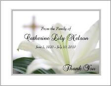 12 Sympathy Personalized Thank You Cards ~ Lily and Cross