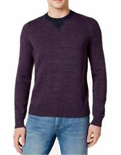 NEW TOMMY HILFIGER SPACE DYED CREW NECK PURPLE PLUM COTTON PULLOVER SWEATER 2XL