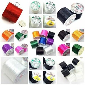 Elastic Stretch Beading String Cord thread Elastic Round Black Color Strong DIY