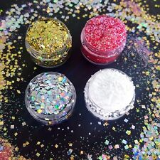 Chunky Flake Glitter Pots Nail Face Eye Shadow Tattoo Festival Body Dance Hair