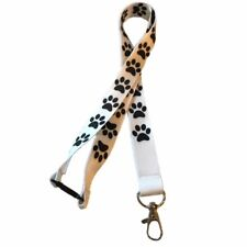 Doggy Paw Print Lanyard With Safety Breakaway