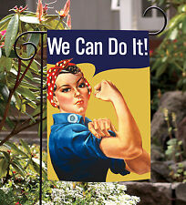 NEW Toland - We Can Do It - Women Empowerment Rosie Riveter Garden Flag