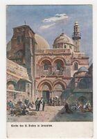 Palestine, Kirche des hl. Grabes in Jerusalem Art Postcard, B215
