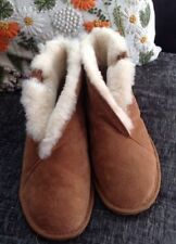EMU Australia Chestnut talinga in Pelle Scamosciata, Pelle Di Pecora Pantofole Stile Scarpone Misura 7 40/41