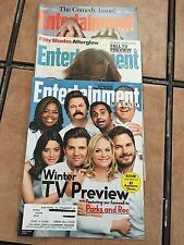 3 Entertainment Weekly Magazines Oct 3, 2014 Jan 9,2015 Feb 27,2015