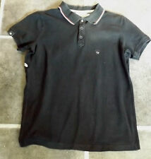 "MENS M BLACK DIESEL SLIM FIT POLO SHIRT WITH COLLAR SHORT SLEEVE CHEST 38"" 97cm"