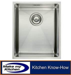 Hafele Ashton Square Single Bowl Stainless Steel Undermount Kitchen Sink