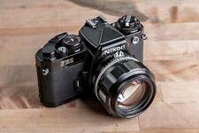 Voightlander 58mm f/1.4 and Nikon FE2
