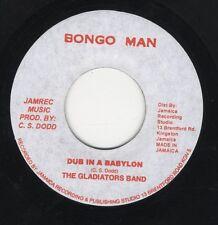 "Gladiators Band – Dub In A Babylon JA 7"" NEAR MINT BONGO MAN ROOTS"