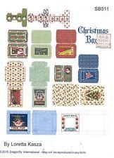 Kit - Modern Christmas Boxes Sheet SB511 dollhouse Dragonfly 1/12 scale wood