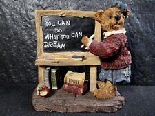 "Boyds Bears "" Ms Appleby . Its Elementary "" Figurine In Box"