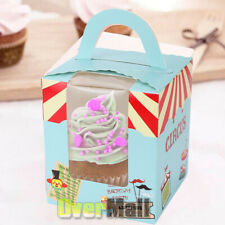 25pcs Birthday Bakery Paper Foldable Cake Cupcake Pastry Container Box Case