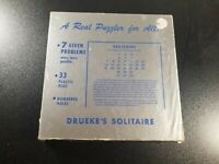 Drueke's Solitaire Wood Peg Board Puzzle Game Vintage Collectible