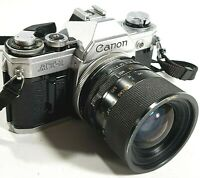 Canon AT-1 SLR 35mm Manual Film Camera with 35-70mm Lens UK Fast Post