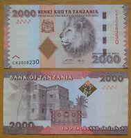 TANZANIA Banknote 2000 SHILINGI 2010 2011 UNC