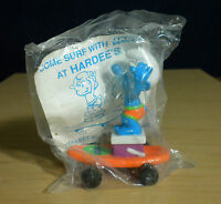 Smurfs Hardees Smurf Orange Skateboard 1996 Vintage Figure Toy PVC Figurine Peyo