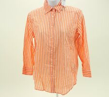 $79.50 Lauren RALPH Lauren Button-down Blouse X-Small XS Coral Orange Polo NWT