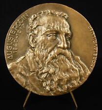 Médaille Auguste Rodin portrait par André Lavriller vers 1970 80 mm 266 g medal