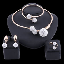 African Jewelry sets Dubai Gold Crystal Bridal Accessories Nigerian Jewelry Sets