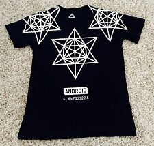 Android Homme Diamond Triangle Black White T Shirt Men's Size Medium