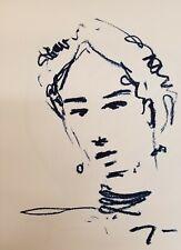 """JOSE TRUJILLO - Original OIL PAINTING on Paper 18x24"""" Contemporary Portrait COA"""