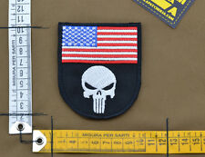 "Ricamata / Embroidered Patch ""Triumph Skull USA"" Black with VELCRO® brand hook"
