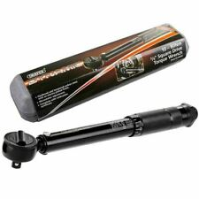 "Draper 64534 Black 3/8"" Square Drive Torque Wrench in Case Calibrated 10-80Nm"