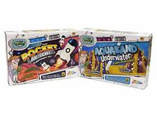 TWO KITS Underwater Aqua Sand and Space Rocket Launcher Science Experiment Sets