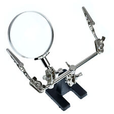 Helping Hand Magnifier Magnifying Glass Jewelry Clamp Holder Soldering Stand