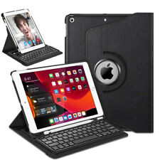 """Wireless Bluetooth Keyboard Case For iPad 7th Gen 10.2"""" 2019 360 Rotating Cover"""