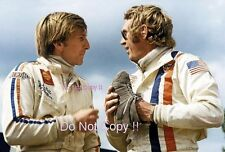 Steve McQueen & Derek Bell Le Mans Movie Portrait 1971 Photograph