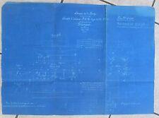 ANCIEN PLAN FORGES MONTLUCON FUSEES D'ESSIEUX P.L.M TYPE 21 SAINT JACQUES 1919