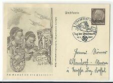 Echte Briefmarken aus deutschen Besetzungsgebieten im 2. Weltkrieg als Ganzsache