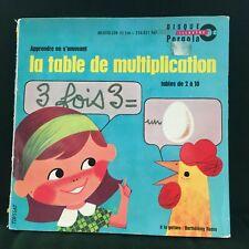"UNKNOWN ARTIST LA TABLE DE MULTIPLICATION FRENCH MATHS 7"" VINYL"
