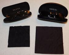 LOT 2 GUCCI lunette de vue LUNETTES lady glasses ETUI boite BOX eyeglasses CASE