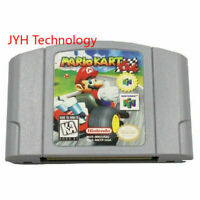 For Nintendo N64 Mario Kart 64 Video Game Cartridge Console Card USA Version