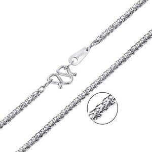 PT950 Pure Platinum Wheat Foxtail Chain Women Luck Necklace 45cm 17.7inch 4.5-5g