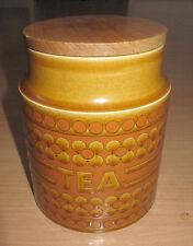 Vintage Hornsea England Storage Jar Tea Saffron Canister & Lid John Clappison