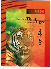 1998 TIMBRES CANADA / CHINA STAMPS  YEAR of the TIGER  PACK