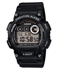 Casio Classic Watch * W735H-1AV Digital Vibration Alarm Black COD PayPal
